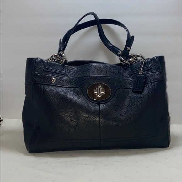 Coach Pebbled Leather Penelope Carryall Purse
